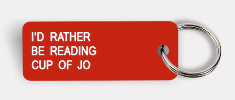 I'D RATHER BE READING CUP OF JO