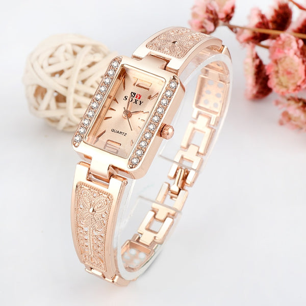 Diamond Luxury Bracelet Watch Rose Gold Women's Watches