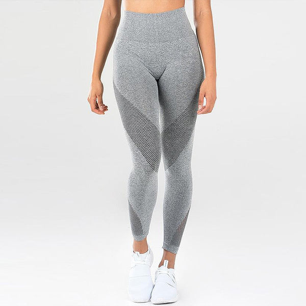 Knitted Fitness Suit - Grey