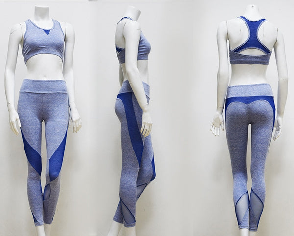 Knitted Fitness Suit - Blue