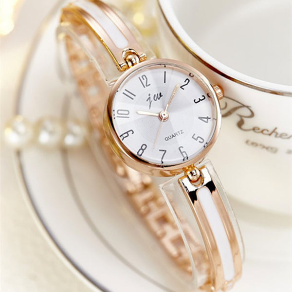 Luxury Crystal Rose Gold Watches Women Fashion Bracelet Gifts