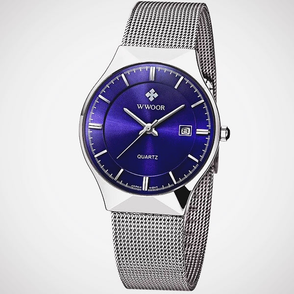 Men Brand Men's Watches Ultra Thin Stainless Steel Mesh Band Quartz Wristwatch Fashion casual watches - Wholesale_Star_1