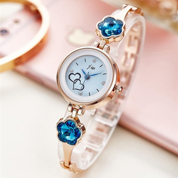 Rhinestone Luxury Stainless Steel Quartz Watch Bracelet Gifts