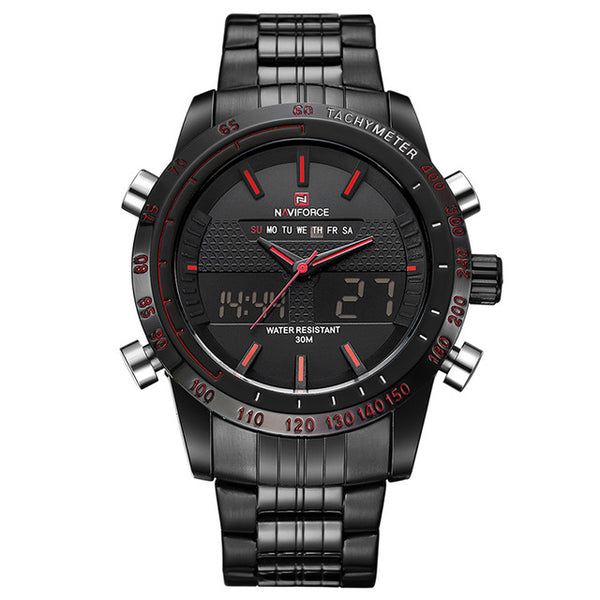 Montres Hommes Montres Full Steel Hommes Horloge Quartz Horloge Analogique LED Sports Watch Montre-bracelet militaire - Wholesale_Star_1