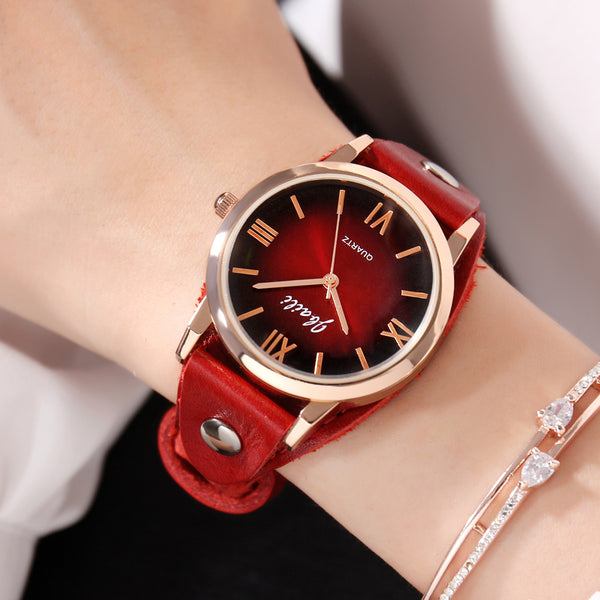 Red Stage Dress Watches Quartz Ladies Cool Gifts