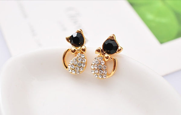 Imitation Pearl Heart Crystal Flower Leaf Angel Wings Geometry Stud Earrings - Wholesale_Star_1