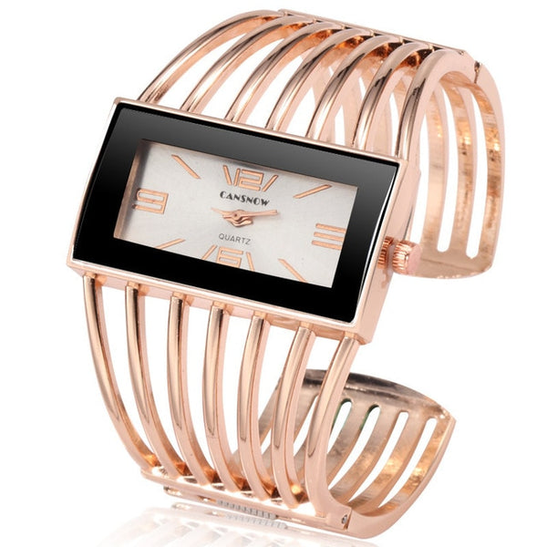 Luxury Rose Gold Bangle Bracelet Watch Gifts - Wholesale_Star_1