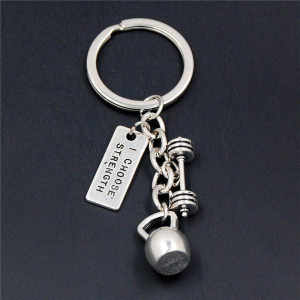Weight Fitness With Words Gym Crossfit Keyring Keychain Gifts For Man - Wholesale_Star_1