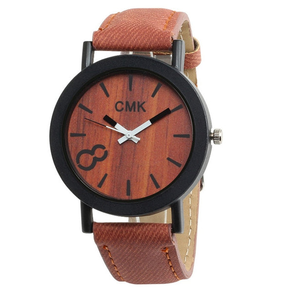 Wood Grain Watch Leather Sports Mens Quartz Wristwatch Gifts - Wholesale_Star_1