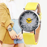 Flower Casual Leather Watches