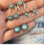 Gem Silver Earrings Set