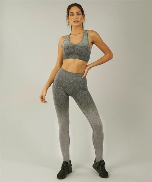 Push Up Yoga Leggings Compression Tights - Grey