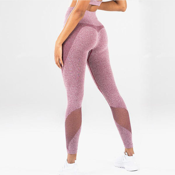 Knitted Fitness Suit - Pink