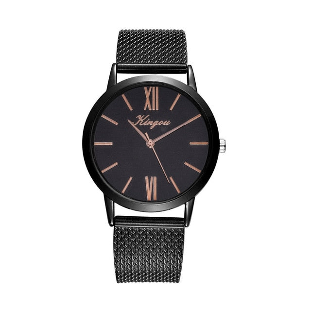 Rose Gold Sliver Mesh Stainless Steel Watches Gifts