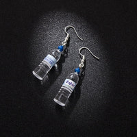 Mineral Water Bottles Earring - Blue