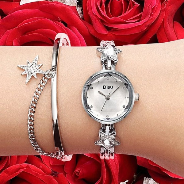 Alloy Bracelet Watch High Quality Sapphire Star Ladies Quartz Watch