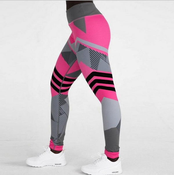 Vakadzi Mesh Breathable High Waist Sport Legins Femme Workout Legging