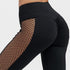 Schwaarz Héich Taille Leggings Fraen Mesh Patchwork Push Up Fitness Hosen - Wholesale_Star_1
