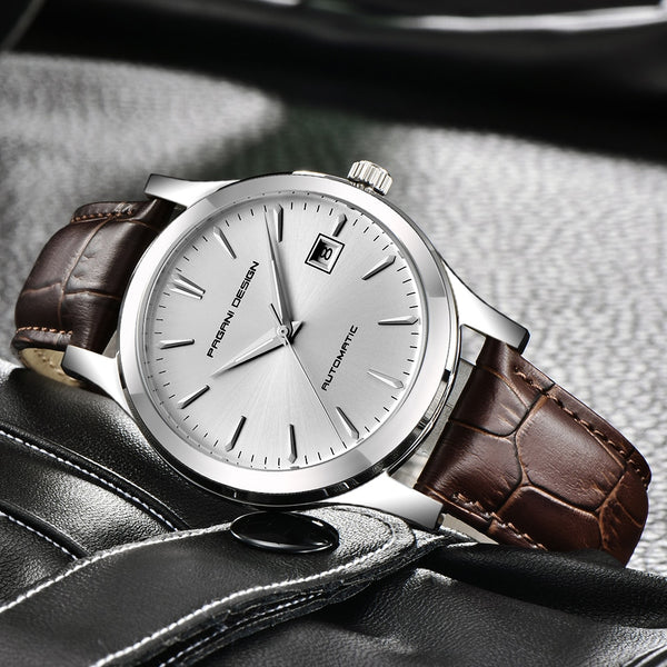 Ultra-thin Mechanical Business Waterproof Watch Genuine Leather Gifts