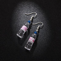 Mineral Water Bottles Earring - Pink