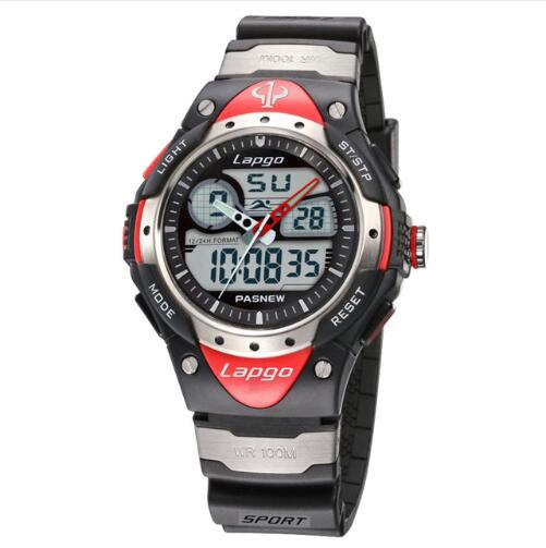 Professional Men's Sports Dual Display Watch - Red