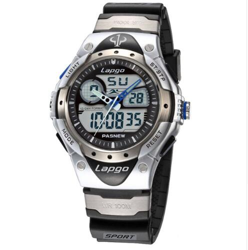 Professional Men's Sports Dual Display Watch - Grey