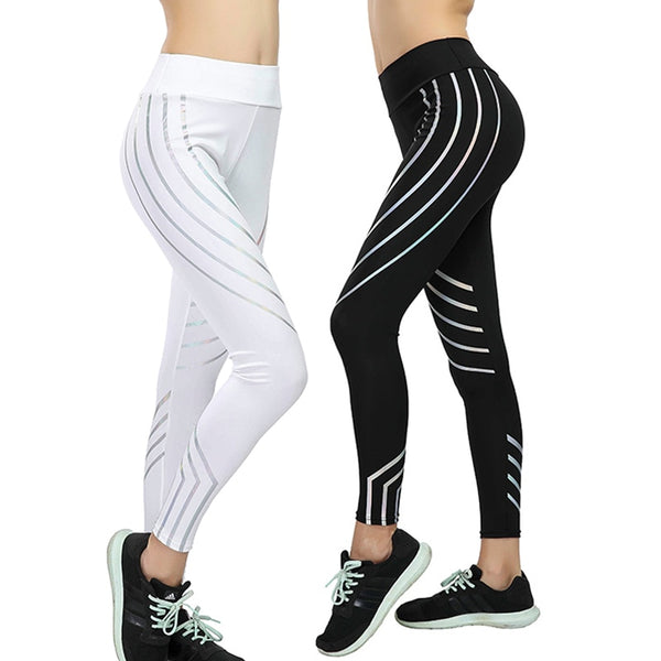Fitness Leggings Kvinner Slim High Waist