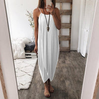 Women Boho Summer Loose Strappy Sleeveless Dress Elegant Holiday Casual Party