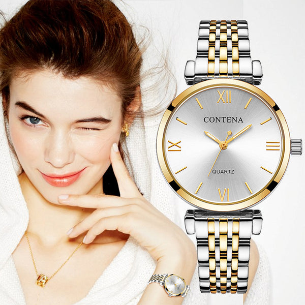 Luxury Stainless Steel Watch Ladies Style Gift