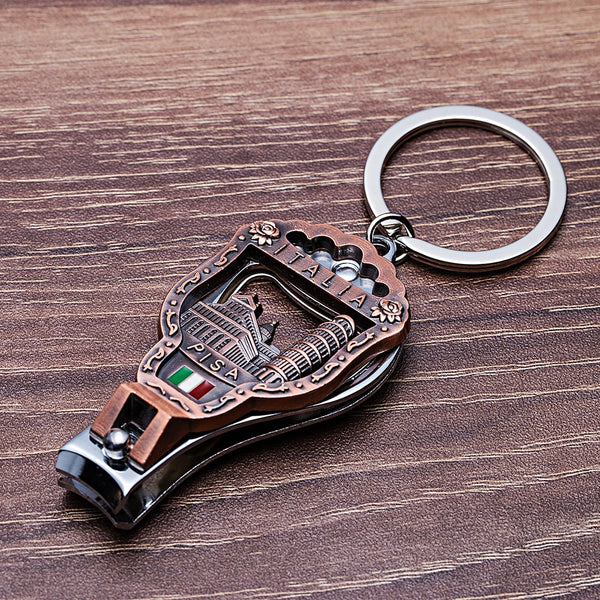 Vicney Newest Italia Vintage եղունգների մեխակ Keychain 3D Relisa Leaning Tower of Pisa Florence - Wholesale_Star_1