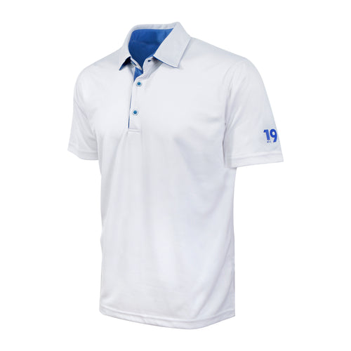 Eco Polo® White with Blue contrast