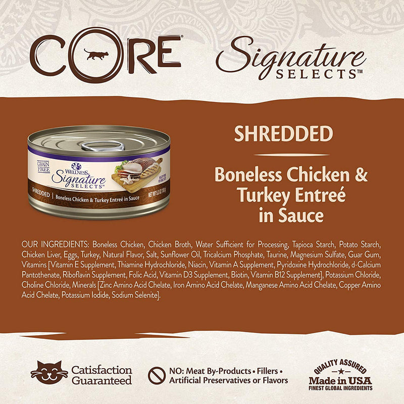 CORE Signature Selects Shredded Chicken & Turkey Grain-Free Canned Cat Food