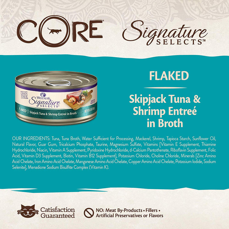 CORE Signature Selects Flaked Tuna & Shrimp Grain-Free Canned Cat Food
