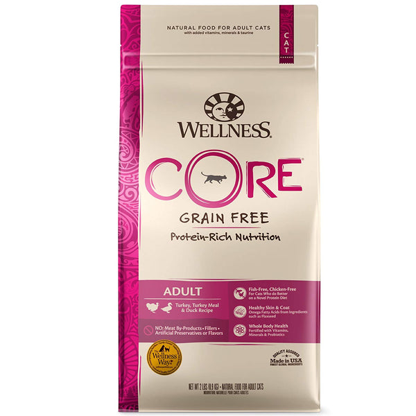 Wellness CORE Adult Turkey, Turkey Meal & Duck Recipe Dry Cat Food