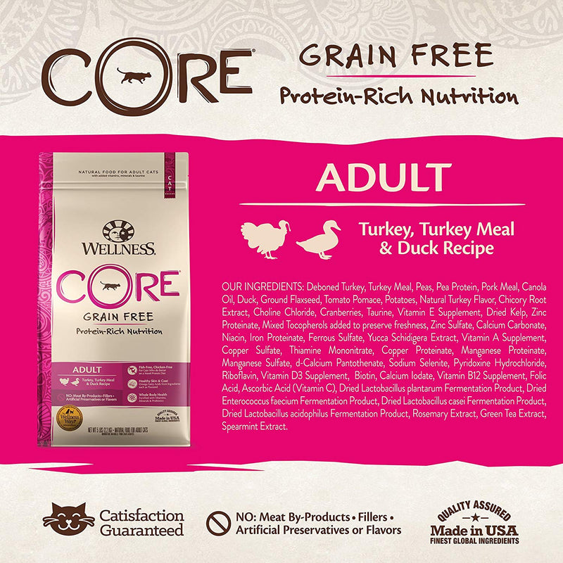 CORE Adult Turkey, Turkey Meal & Duck Recipe Dry Cat Food