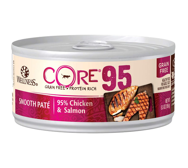 Wellness CORE 95% Chicken & Salmon Grain-Free Canned Cat Food