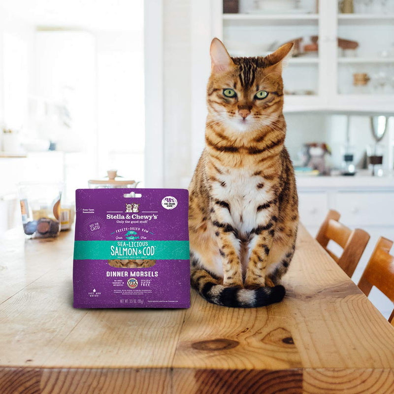 Sea-licious Salmon & Cod Dinner Morsels Freeze-Dried Raw Cat Food