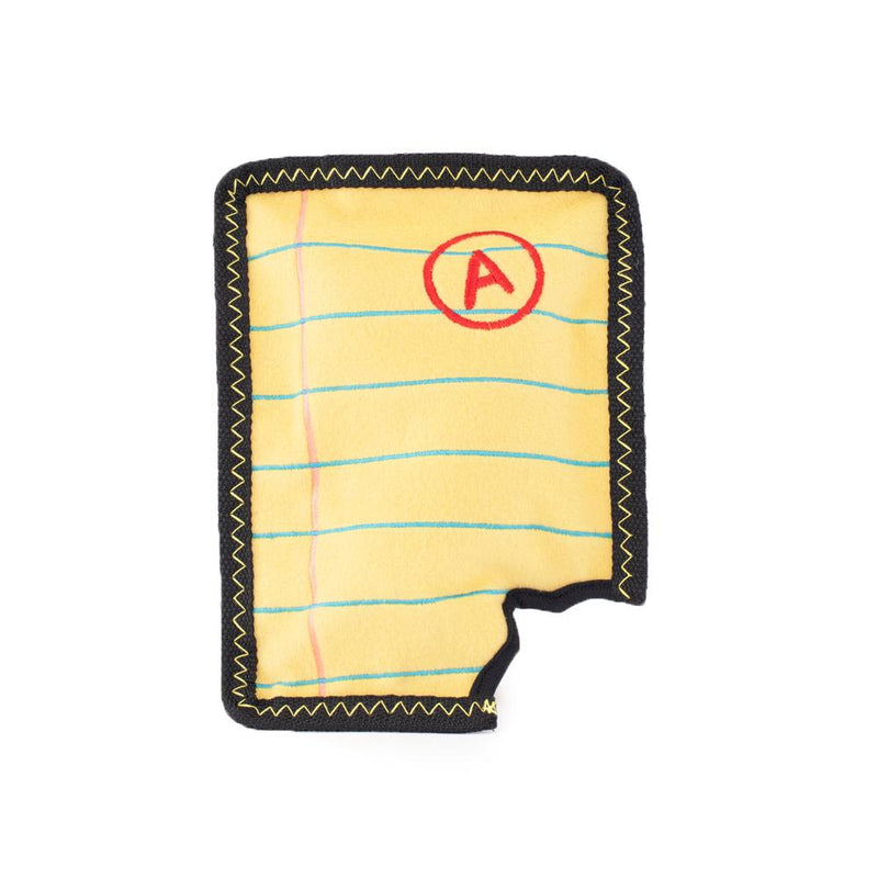 ZippyPaws Z-Stitch - Yellow Notepad Dog Toy