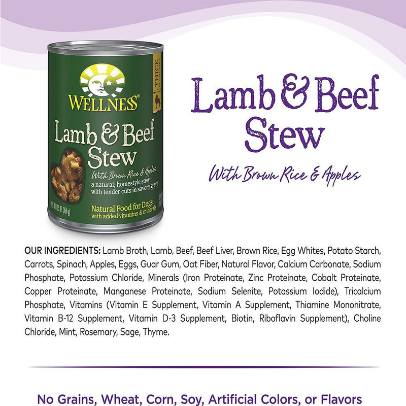 Wellness Lamb & Beef Stew With Brow Rice & Apples Wet Dog Food