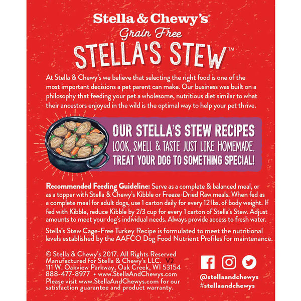Stella's Stew Cage Free Turkey Wet Dog Food