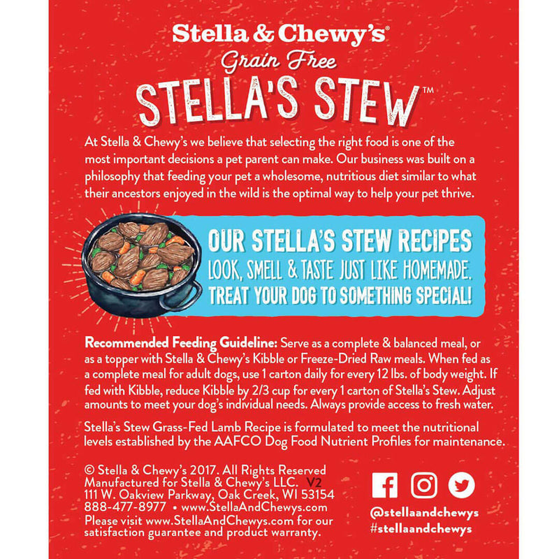 Stella & Chewy's Stella's Stew Cage Free Lamb Wet Dog Food