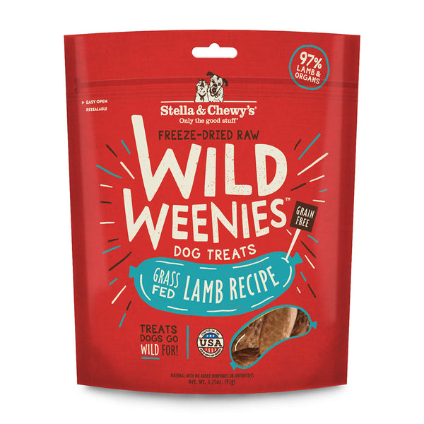Stella & Chewy's Wild Weenies Lamb Recipe Freeze-Dried Raw Dog Treats