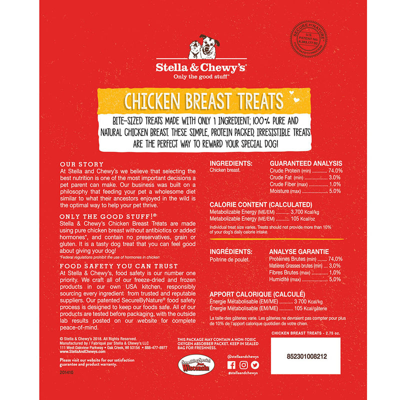 Stella & Chewy's Single Ingredient Chicken Breast Freeze-Dried Cat Dog Treats