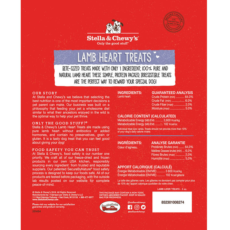Single Ingredient Lamb Heart Freeze-Dried Cat Dog Treats