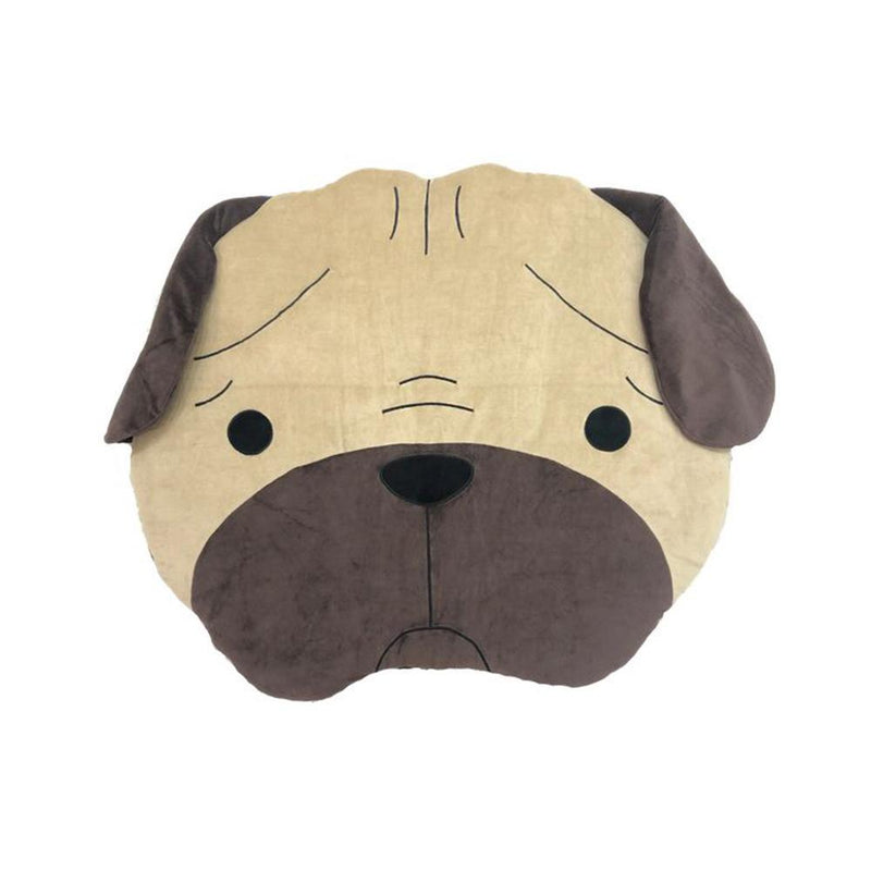 Hey Cuzzies Organic Cotton Bed - Pug Head