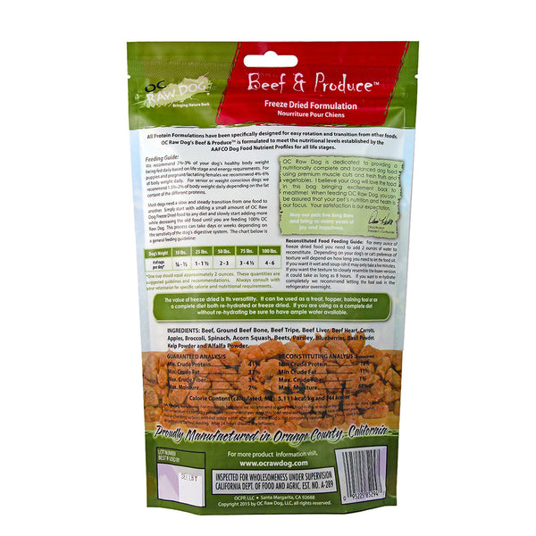 Meaty Rox Beef & Produce Freeze Dried Dog Food