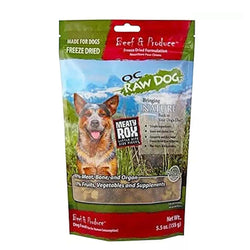 Meaty Rox Beef & Produce Freeze Dried Dog Food Topper