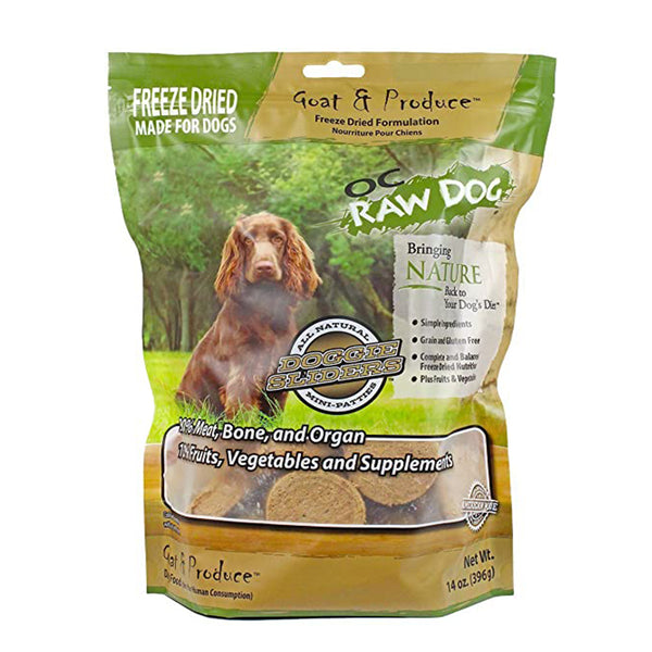 Goat & Produce Sliders Freeze-Dried Raw Dog Food