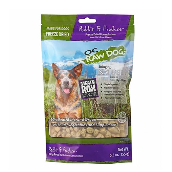 Meaty Rox Rabbit & Produce Freeze Dried Dog Food Topper