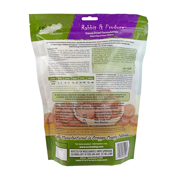 Rabbit & Produce Sliders Freeze-Dried Raw Dog Food